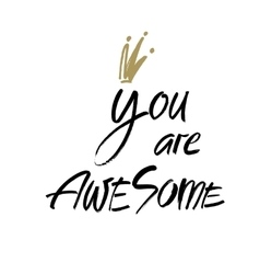 You are awesome Modern brush calligraphy vector image
