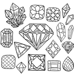 Hand drawn doodle jewelry set vector image vector image