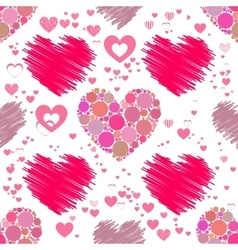 Heart pattern Seamless Valentine s Day vector image
