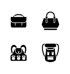 luggage simple related icons vector image