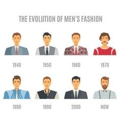Men Fashion Avatar Evolution Icons Set vector image vector image
