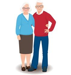 Senior couple in full length vector image vector image