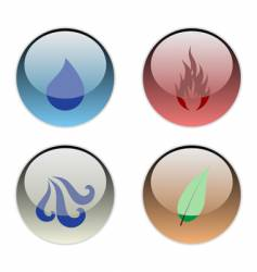 the four elements vector image vector image