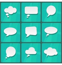 White Speech Bubbles vector image