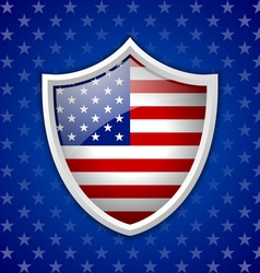 American shield badge vector image