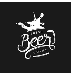 Beer point typography vintage lettering vector image vector image