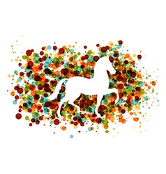 Chinese new year of the Horse bubbles EPS10 file vector image