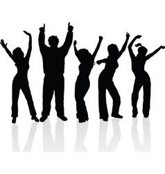 everyone dance vector image vector image