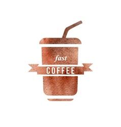 fast coffee logo vector image