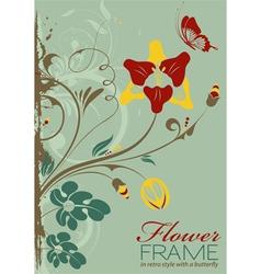 grunge decorative floral vector image