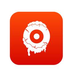 scary eyeball icon digital red vector image vector image