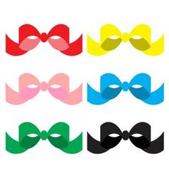 Set of colored bows vector image vector image