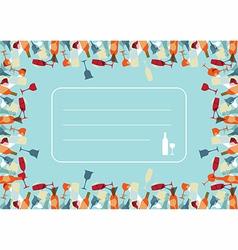 Transparency Cocktail menu design background vector image vector image