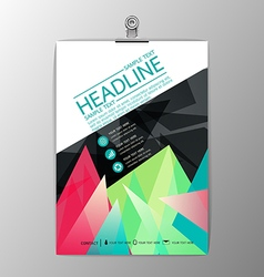 Abstract modern brochure template design business vector image vector image