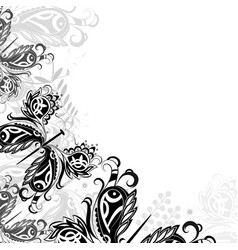 background with abstract butterflie vector image vector image