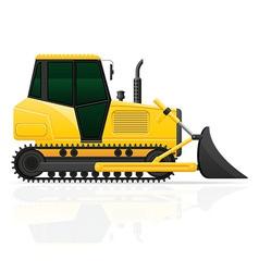 Caterpillar tractor 02 vector