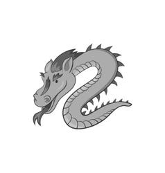 Dragon icon black monochrome style vector image