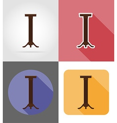 furniture flat icons 25 vector image vector image