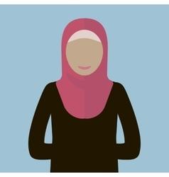 Muslim Woman Icon vector image vector image