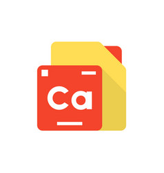 periodic table element logo vector image