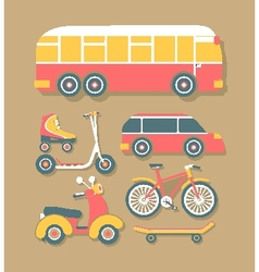 Transport for Cities vector image