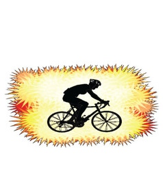 background with bicyclist silhouette vector image