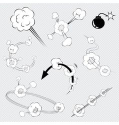 Cartoon comic book explosions vector image vector image