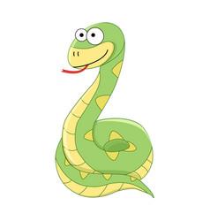 cute funny cartoon snake vector image