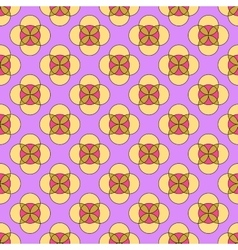 Flower abstract seamless pattern vector image vector image
