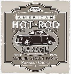 Hotrod Runner garage vector image vector image