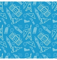 Travel seamless pattern tourist Holidays and vector image