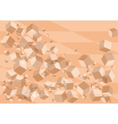 Abstract background with pink cubes vector