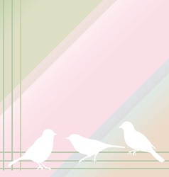 abstract birds on a color background vector image