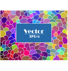 abstract colorful spot background vector image