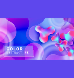 abstract liquid bubble gradient background vector image