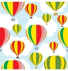 Aerostat balloon over sky Seamless vector