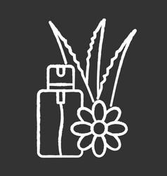 Aloe vera emergency spray chalk white icon on vector