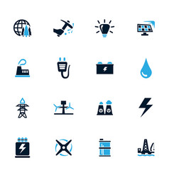 Alternative energy icons set vector