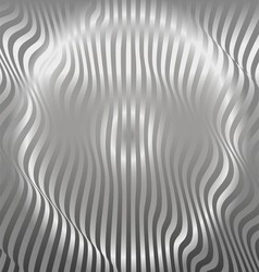 Aluminum Abstract Silver Stripe Pattern Background vector image