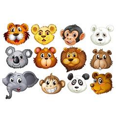 Animal heads vector image