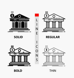 architecture bank banking building federal icon vector image