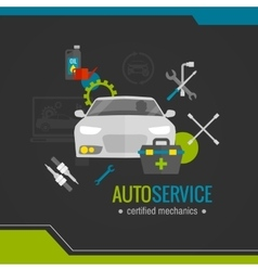 Auto Mechanic Flat Icon vector image