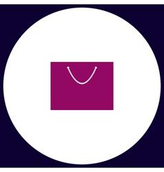 Bag computer symbol vector