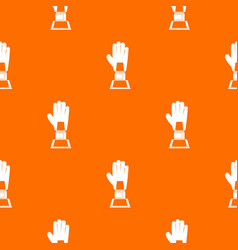 baseball glove award pattern seamless vector image