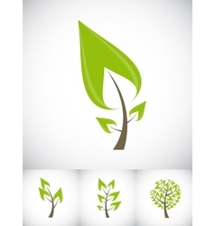 Beautiful Green Tree Icon on a White Background vector