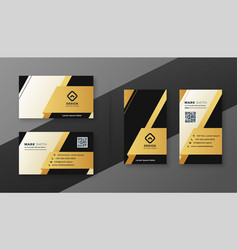 Black white and golden modern business card design vector