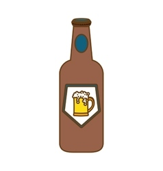 Bottle of beer icon design vector