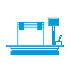 cardboard box on storage scale cargo icon vector image