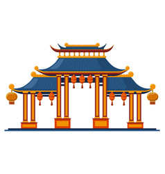 chinese traditional entrance asian traditional vector image
