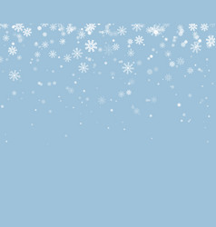 christmas snowflake falling snow backgroun vector image